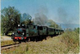 Chemin Fer Vallée De La Doller - Train En Double Traction Entre Aspach Et Burnhaupt Locomotive Couillet 1656 Et Meuse 51 - Frankreich