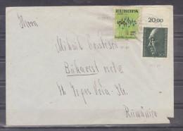 Lettre Distribué Dans 1976 Route Allemagne - Romania (Bucuresti) - BRD