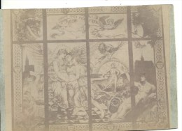 PHOTO ALBUMINEE AVANT 1900 - FORMAT 11 X 16 Sur Carton -54 - MEURTHE ET MOSELLE - NANCY - Détail D'un Vitrail - Photos