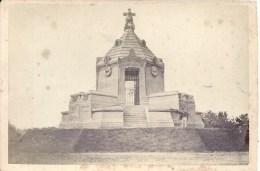 PHOTO ALBUMINEE AVANT 1900 - FORMAT 11 X 16 Sur Carton -67 - BAS RHIN - STRASBOURG  FROESCHWILLER - Monument Guerre 1870 - Non Classés