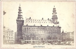 PHOTO ALBUMINEE AVANT 1900 - FORMAT 11 X 16 Sur Carton - ALLEMAGNE - AACHEN - AIX LA CHAPELLE - Mairie - Rathhaus - Photos