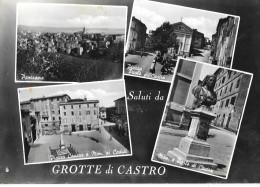 LAZIO-VITERBO-GROTTE DI CASTRO PIAZZA PAOLO DI CASTRO PIAZZA CAVOUR VEDUTE SALUTI DA GROTTE DI CASTRO - Altre Città