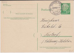 Bund Heuss P 31 PSt I Stempel Pegnitz-Siedlung ü Pegnitz 1957 - Cartoline - Usati