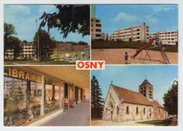 CP. 95 . OSNY . RESIDENCE DU VAUVAROIS . CITE EMMAUS . CENTRE COMMERCIAL . EGLISE ( Voie L'état ) - Osny