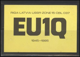 LATVIA PSR QSL Card Radio Communication SHL PC 113 - Radio Amateur