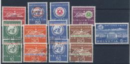 Lot Schweiz �mter UNO Michel No. 31 - 39 ** postfrisch / 34 - 37 gestempelt used