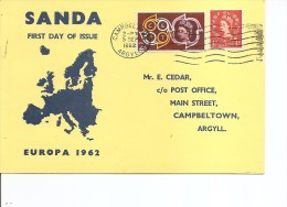 Grande-Bretagne -Sanda Island ( Carte De 1962 En Premier Jour Avec BF Non Dentelé à Voir) - Local Issues