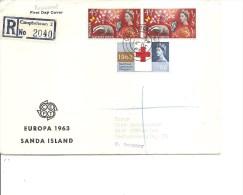 Grande-Bretagne -Sanda Island ( Lettre En Recommandé Premier Jour De 1963 Avec BF Non Dentelé  Vers L'Allemagne à Voir) - Local Issues