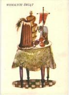 Thème  - Voeux - Noël - Wesolych Swiat - Illustration Bohdan Wroblewski - Natale