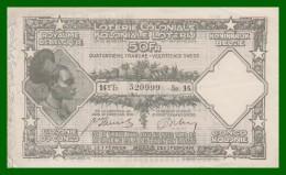 BELGIQUE - LOTERIE COLONIALE - 14 TRANCHE 1936 - - Billetes De Lotería