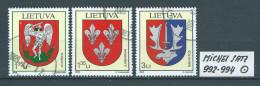 LITAUEN MICHEL SATZ 992 - 994 Gestempelt Siehe Scan - Lithuania