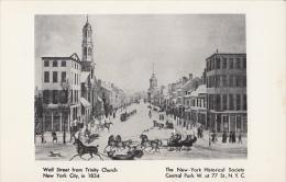 1315- NEW YORK CITY- WALL STREET, HORSE SLEIGH, CPA - Wall Street