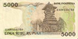 BILLETE DE INDONESIA DE 5000 RUPIAH DEL AÑO 1986  (BANKNOTE) - Indonesia