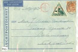 ZILVERMEEUW * SPECIALE LUCHTPOSTBRIEF LP  * Uit 1933 Van PALEMBANG NEDERLANDS INDIE Naar DEN HAAG  (8996) - Netherlands Indies