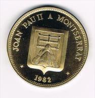 ¨¨ PENNING  JOAN PAU II  A MONTSERRAT 1982 - Monete Allungate (penny Souvenirs)