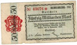 GUTSCHEIN PASSAU 50 Milliarden Mark - 03/11/1923 - N° 43676 - [11] Emissioni Locali