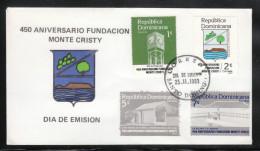 Dom. Rep. 1983, FDC, Provinz Monte Cristi,  mit Kaktus Opuntia sp.  / Dom. Rep. 1983, FDC, with cactus Opuntia sp.