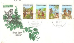 Papouasie Nouvelle Guinée 1971 Pêche Agriculture N° 205 à 208 - Papua New Guinea