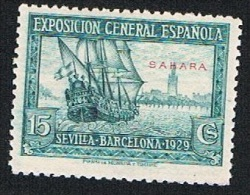 Ed. 27 Alfonso XIII Sahara 15 Cts. Nuevo Char. - Sahara Español