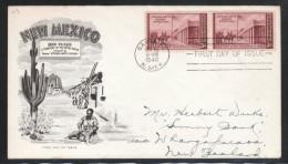 USA 1946, FDC, 100 Jahre New Mexico, Cereus sp.  / USA 1946, FDC, 100 Years New Mexico, Cereus sp.