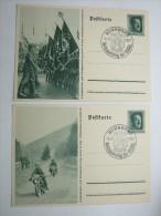 1937, 2 Propagandaganzsachen Mir Sonderstempel - Weltkrieg 1939-45