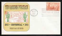 USA 1953, FDC Gadsden-Kauf,  Kaktus Carnegia gigantea / USA 1953, FDC Gadsden Purchase, cactus Carnegia gigantea