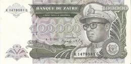 BILLETE DE ZAIRE DE 100000 ZAIRES DEL AÑO 1992 (BANKNOTE) SIN CIRCULAR-UNCIRCULATED - Zaire