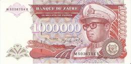 BILLETE DE ZAIRE DE 1000000 ZAIRES DEL AÑO 1992 (BANKNOTE) SIN CIRCULAR-UNCIRCULATED - Zaire