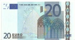 Cyprus Letter G Printercode G009 Trichet UNC - 20 Euro