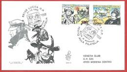 ITALIA REPUBBLICA FDC VENETIA - 1996 - Fumetti - ANN. LUCCA - 6. 1946-.. Repubblica