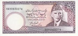 Pakistan 50 Rupies 1986 Pick 40 UNC - Pakistan