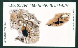 ARMENIA  -  Mouflon And Jerboa  Unused Postcard As Scans - Armenia