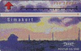 Iceland, ICE-D-06, 100 SKREF, Painting - View Of Iceland 1, 2 Scans. - Iceland