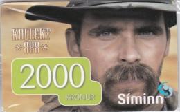 Iceland, SIM-REF- ?, SIMINN 2000 Kr, GSM Refill, Man, Mint In Blister 2 Scans.