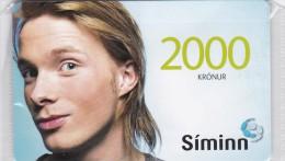 Iceland, SIM-REF-004, SIMINN 2000 Kr, GSM Refill, Woman - 1, Mint In Blister 2 Scans. - Iceland