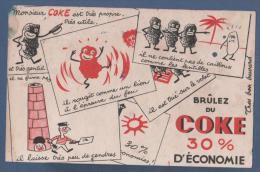BUVARD BRÛLEZ DU COKE 30% D'ECONOMIE - 21 X 13.5 Cm - Gas, Garage, Oil