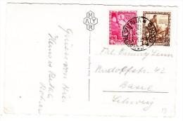 Italien - Mi.# 604 + 605 Campione D'Italia 12.6.1939 Auf AK Campione Nachts - Italien