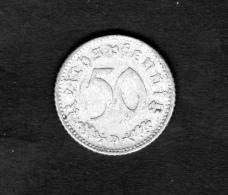 GERMANY 50 REICHSPFENNIG 1943 D COIN - [ 4] 1933-1945 : Troisième Reich