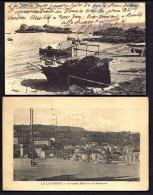 LOT 2 CPA ANCIENNES- FRANCE- LE LAVANDOU (83)-  LES ROCHERS DE ST-CLAIR  AVEC ANIMATION + LE GRAND HOTEL - Le Lavandou