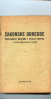 Zakonske odredbe u upravi nastavne struke----old book