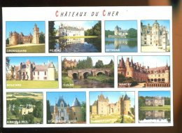 CPM Neuve 18 Les Châteaux Du Cher Multi Vues - Autres Communes