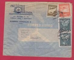 Chili  //  Enveloppe De Santiago  //  Pour Paris  //  1953 - Chile