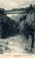 Goschenen,Reussbrucke Avec Trains, Gotthardbahn - UR Uri