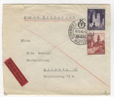 Generalgouvernement Michel No. 45 gestempelt used auf Brief Eilbote