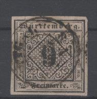 W�rttemberg Michel No. 4 a II gestempelt used / gepr�ft BPP Irtenkauf