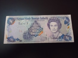 1998 CAYMAN ISLANDS RARE 1 DOLLAR ( P 21a )