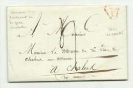 1815 De Paris à Chalons Sur Marne Lettre D'un Officier Impérial Pour Récupérer Sa Jument - 1801-1848: Voorlopers XIX