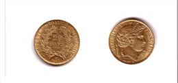 Cérès   :   20  Fr.   Or  1851.   A  .   Qualité  Splendide  !!!       ENVOI   GRATUIT  En  France  !!! - L. 20 Francs