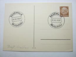 1937, PASEWALK - Weihestätte ,  Propagandastempel Unverschickt - Weltkrieg 1939-45