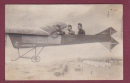 MILITARIA - 150914 - !! CARTE PHOTO !! L Photo Montage Avion Antoinette  - Cartier Camp D'AUVOURS - Guerra 1914-18